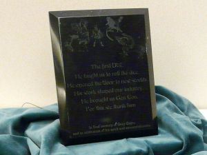 Um placa dedicada a Gary Gygax na Gen Con Indy, 2008.